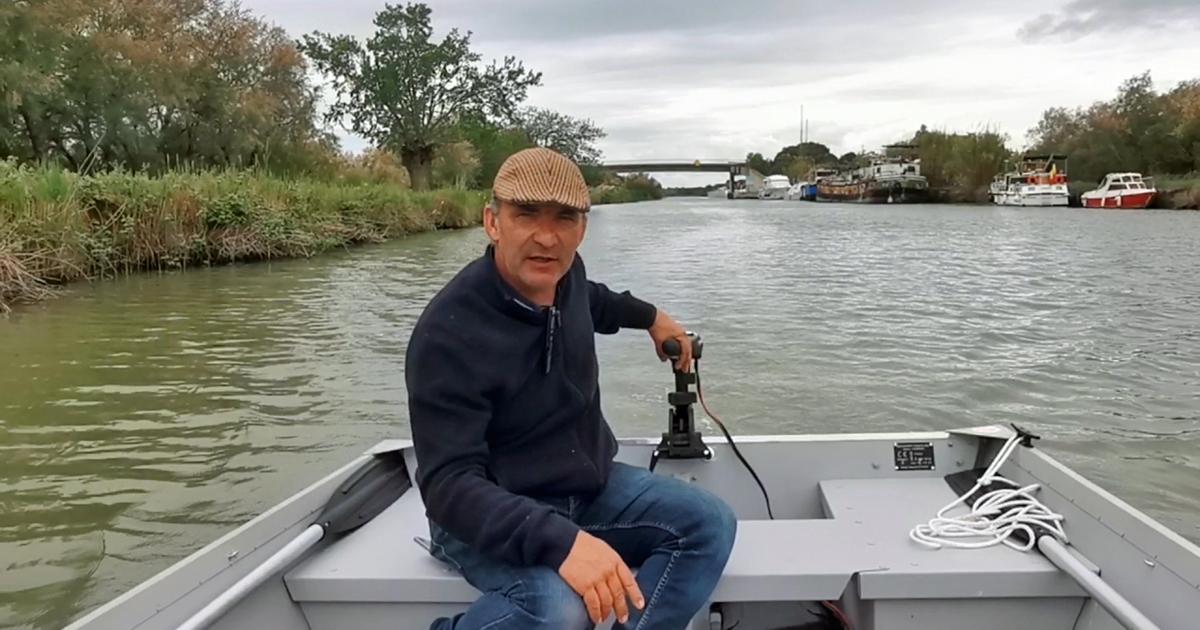 Thierry Félix propose des balades en barques sur le canal