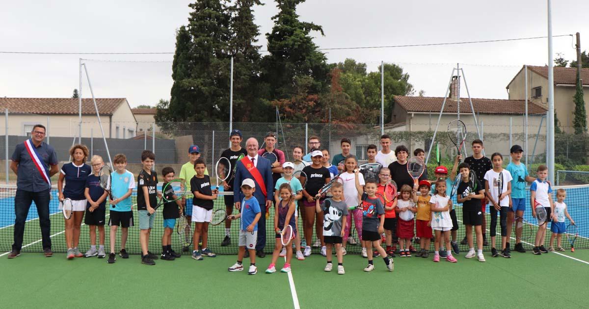 Deux nouveaux courts pour un club de tennis plein de projets