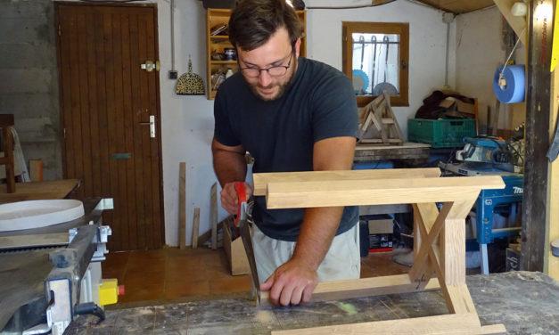 Romain Vincent expose ses créations en bois ce week-end à la boutique « Comme à la maison »