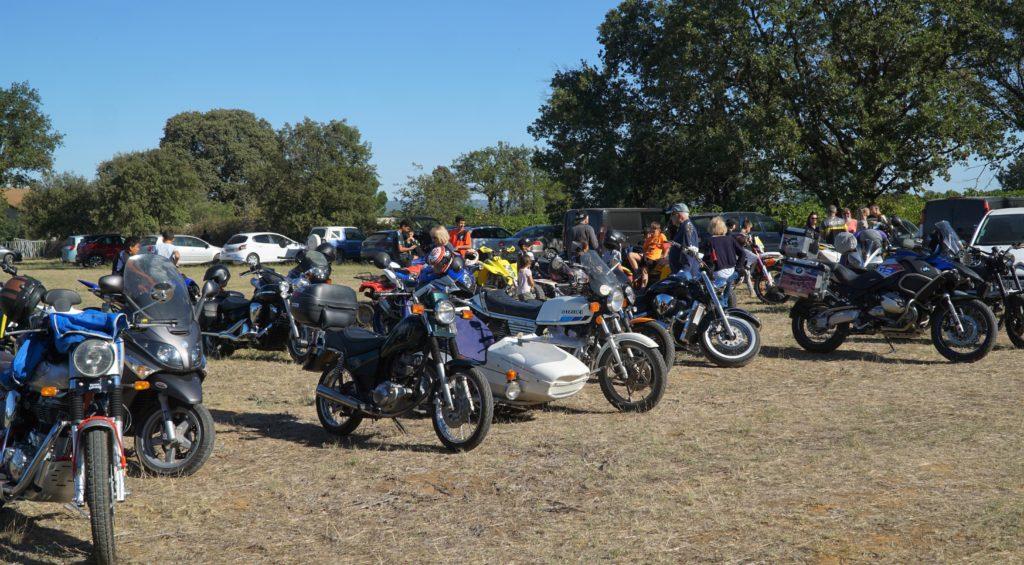 réunion de motos